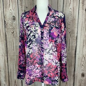 Express floral blouse Portofini Collection j425